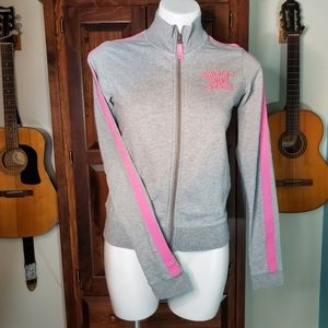 Pink Victoria's Secret Gray and Pink Track Jacket